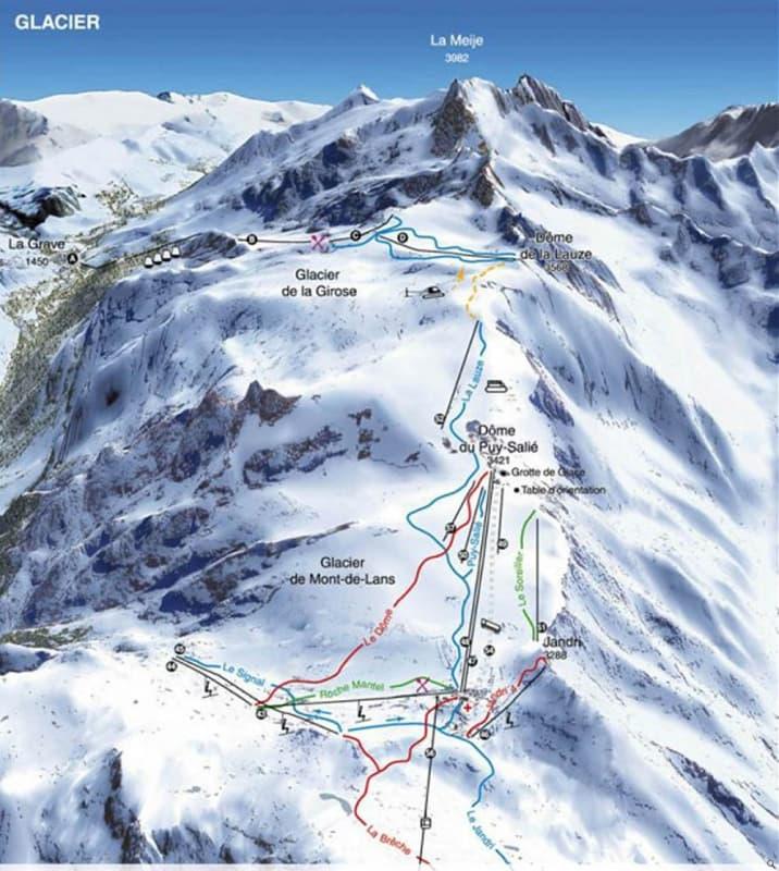 Les 2 Alpes Trail Map Liftopia