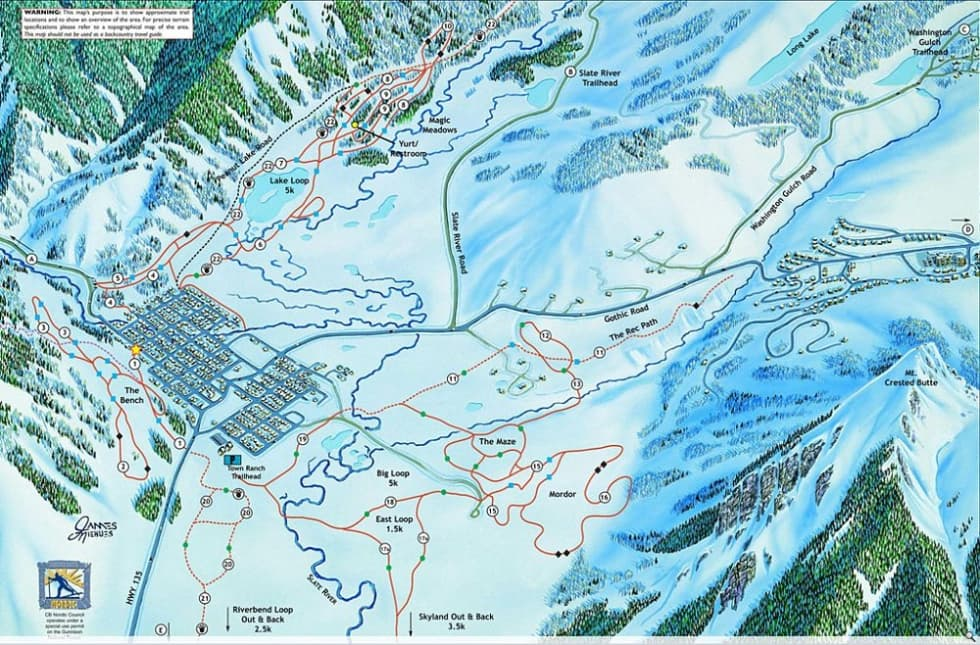 Crested Butte XC Trail Map Liftopia