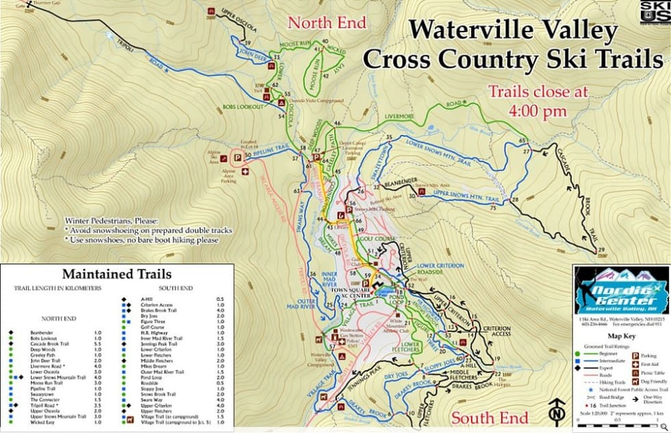 Waterville Valley XC Trail Map Liftopia