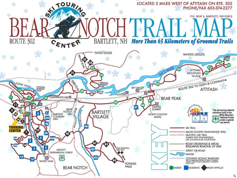 Bear Notch XC Trail Map Liftopia