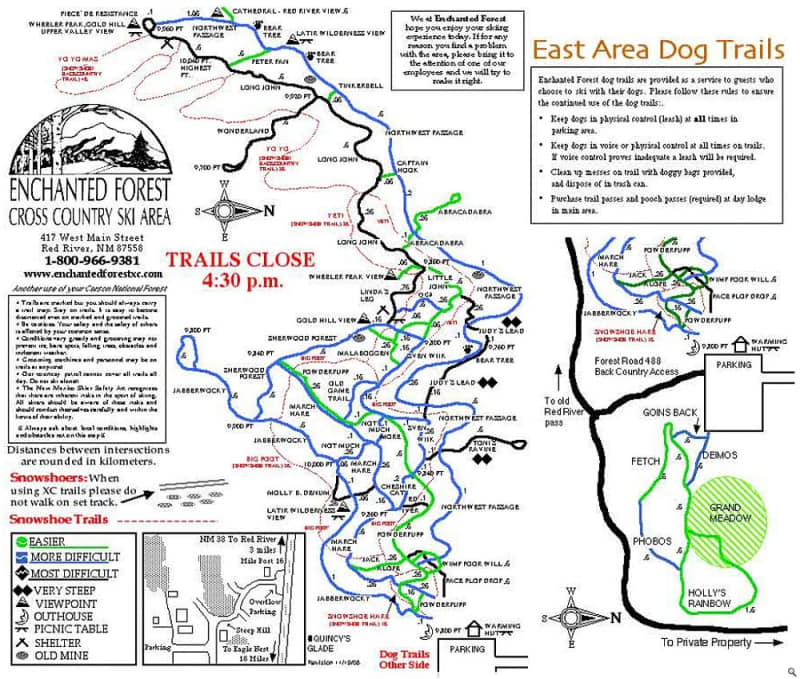 Enchanted Forest XC Trail Map 1