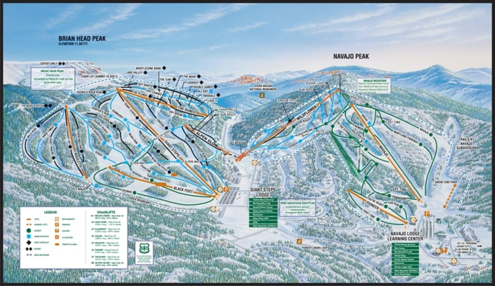 Brian Head Trail Map Liftopia - Western us ski resorts map