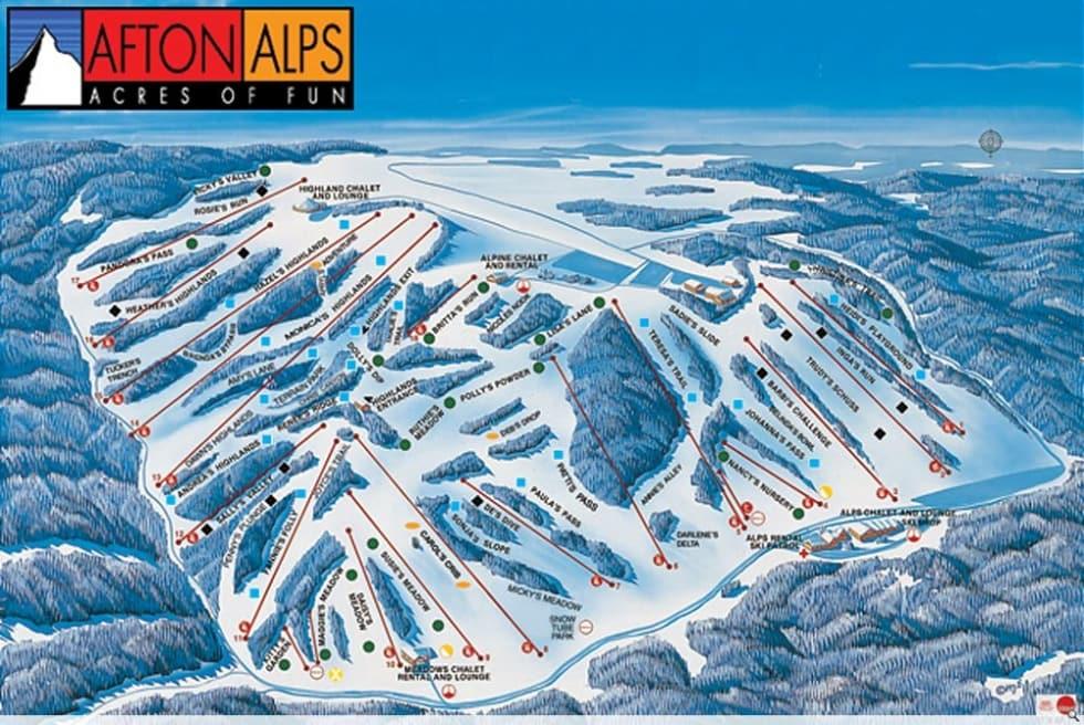 Worksheet. Afton Alps Trail Map  Liftopia