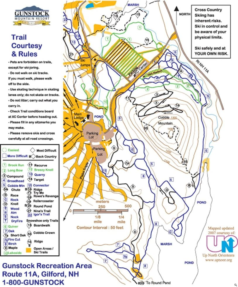 Gunstock xc trail map liftopia gunstock xc trail map freerunsca Choice Image