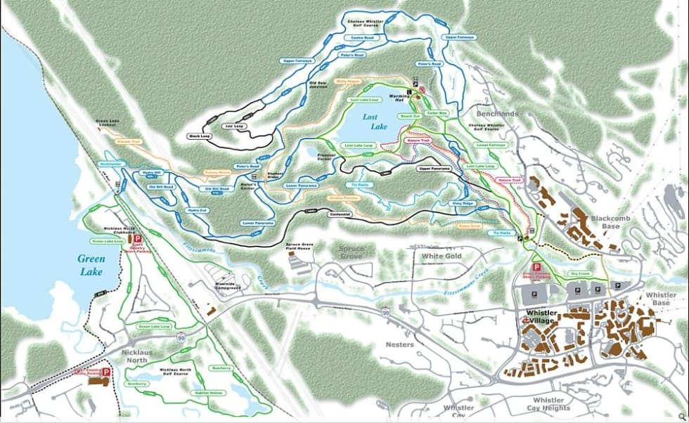 Whistler Lost Lake Xc Trail Map Liftopia
