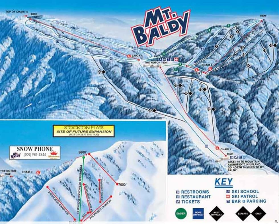 Mt Baldy Trail Map Liftopia - Mammoth mountain trail map