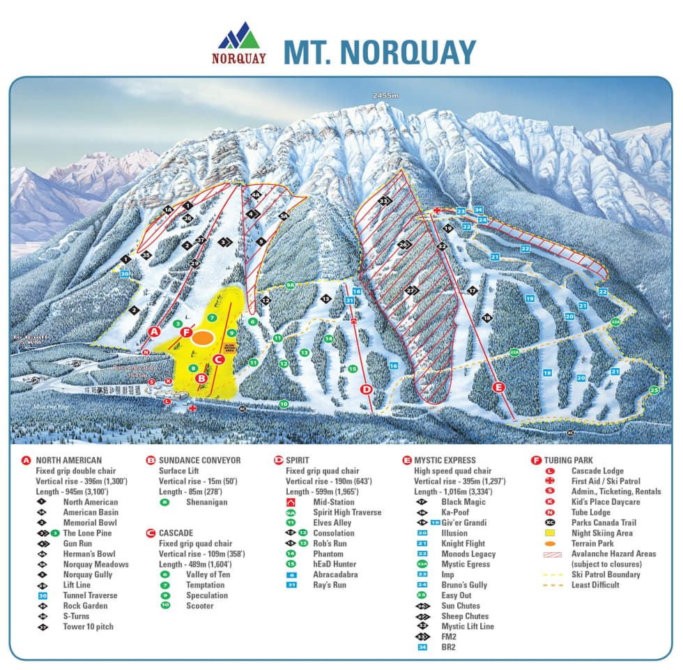 Banff mt norquay trail map liftopia banff mt norquay trail map publicscrutiny Images