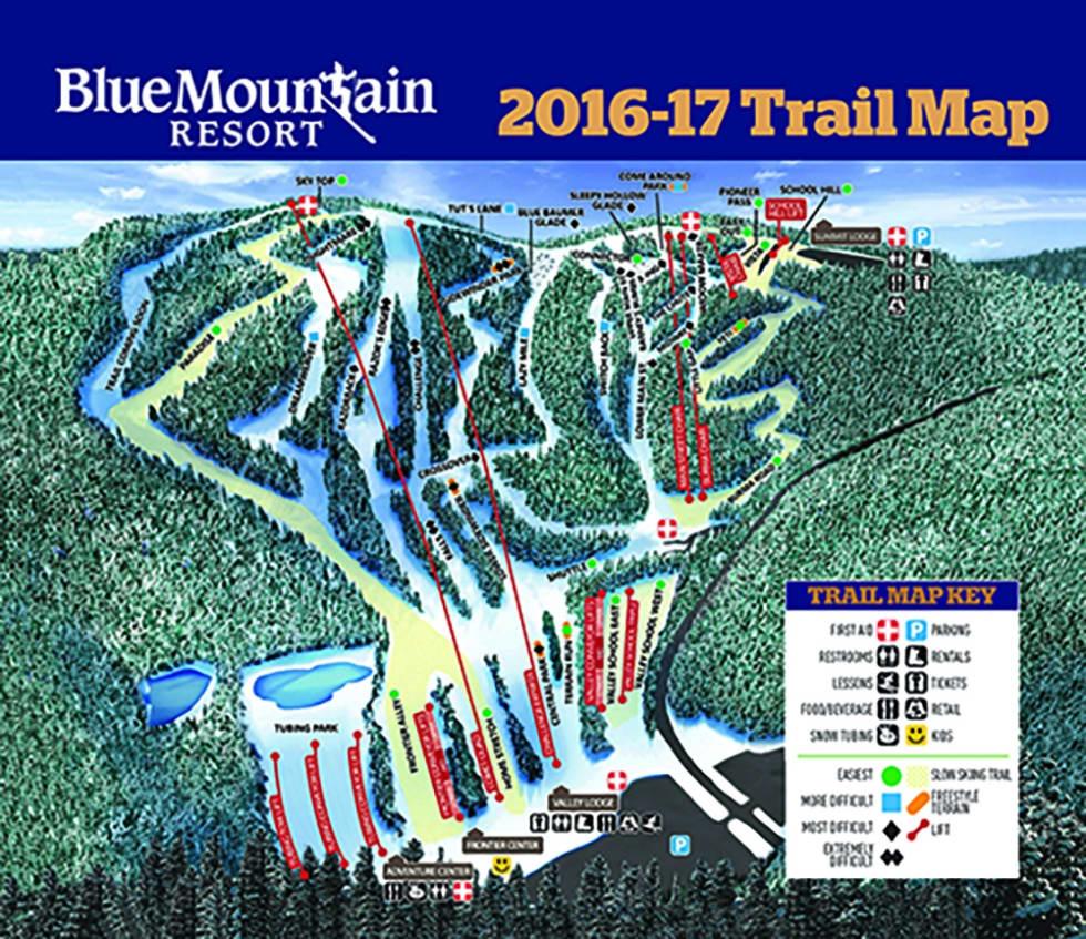 Blue Mountain PA Trail Map Liftopia - Pa map
