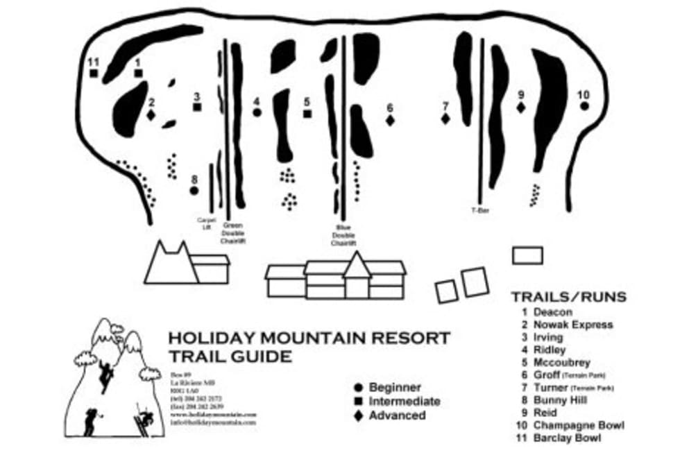 Holiday mountain manitoba trail map liftopia holiday mountain manitoba trail map publicscrutiny Images