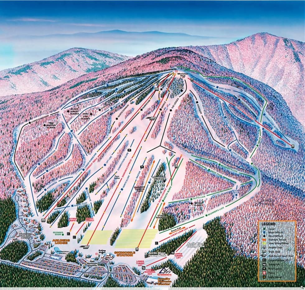 Cranmore Mountain Trail Map Liftopia - North convey in us map