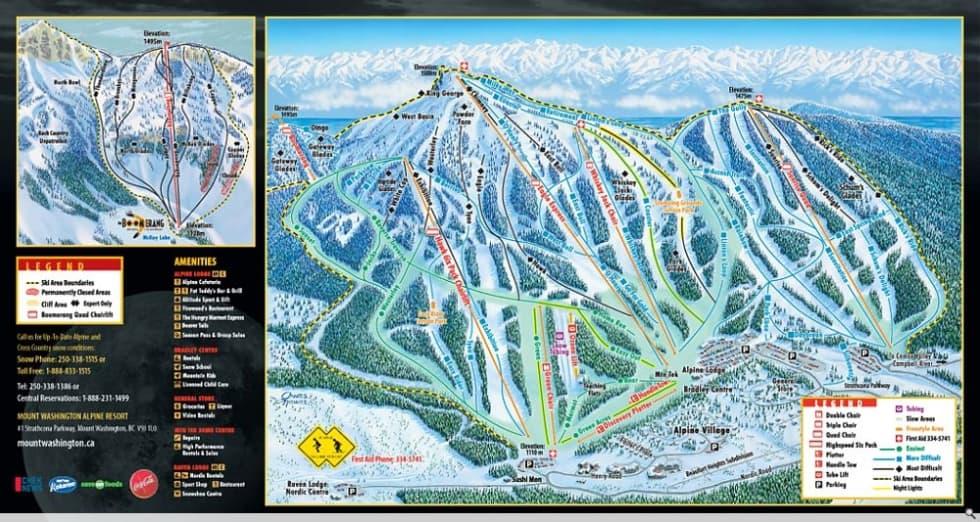 Mount Washington Trail Map | Liftopia
