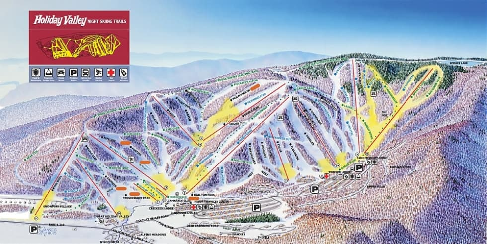Holiday Valley Trail Map  Liftopia