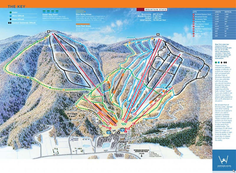 hunter mountain ski map