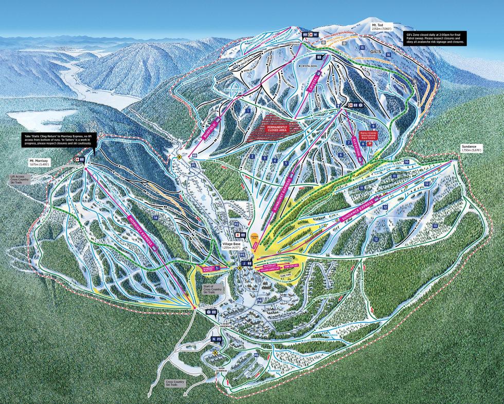 Sun Peaks Canada Map Sun Peaks Resort Trail Map | Liftopia
