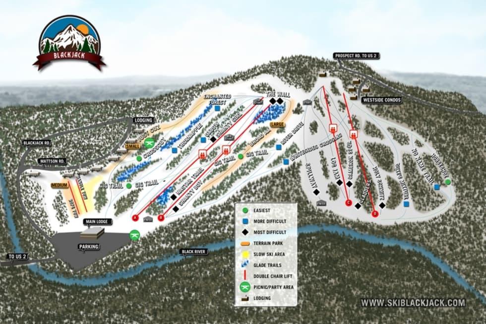 Blackjack Trail Map Liftopia