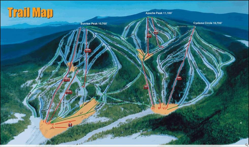 Sunrise Park Trail Map   Liftopia on
