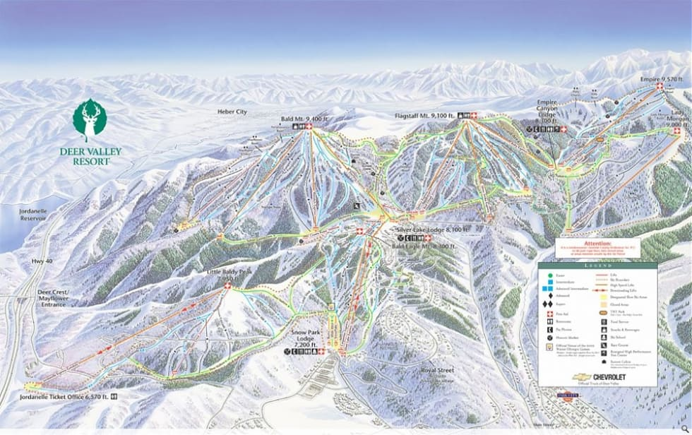 Deer Valley Map Deer Valley Trail Map | Liftopia