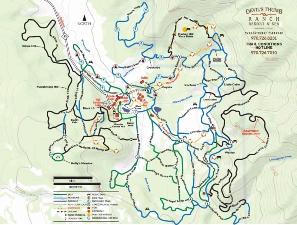 Devils Thumb Ranch Trail Map   Liftopia on mt. mitchell trail, castle rock trail, alaska trail, slick rock trail, boundary peak trail, black mountain trail, redwood creek trail, mount juneau trail, niagara gorge trail, camelback mountain trail,