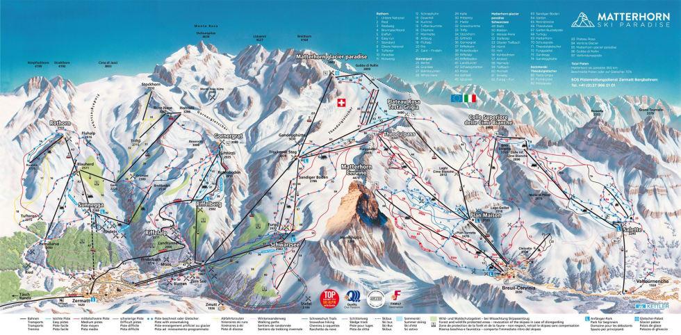 Zermatt Trail Map | Liftopia on