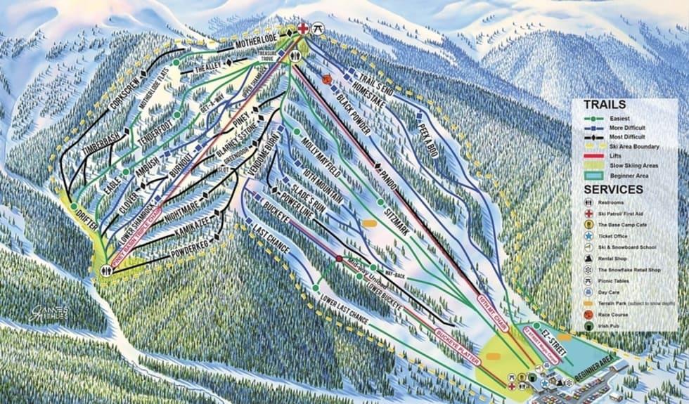 Ski Cooper Trail Map | Liftopia on