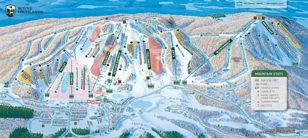Boyne Highlands Trail Map Liftopia