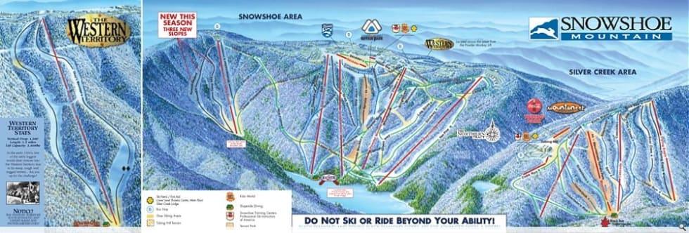 Snow Shoe Map Snowshoe Mountain Trail Map | Liftopia