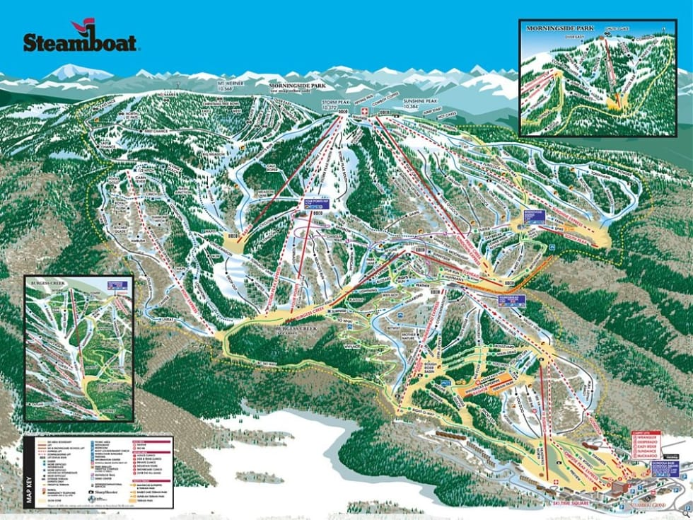 Steamboat Trail Map | Liftopia