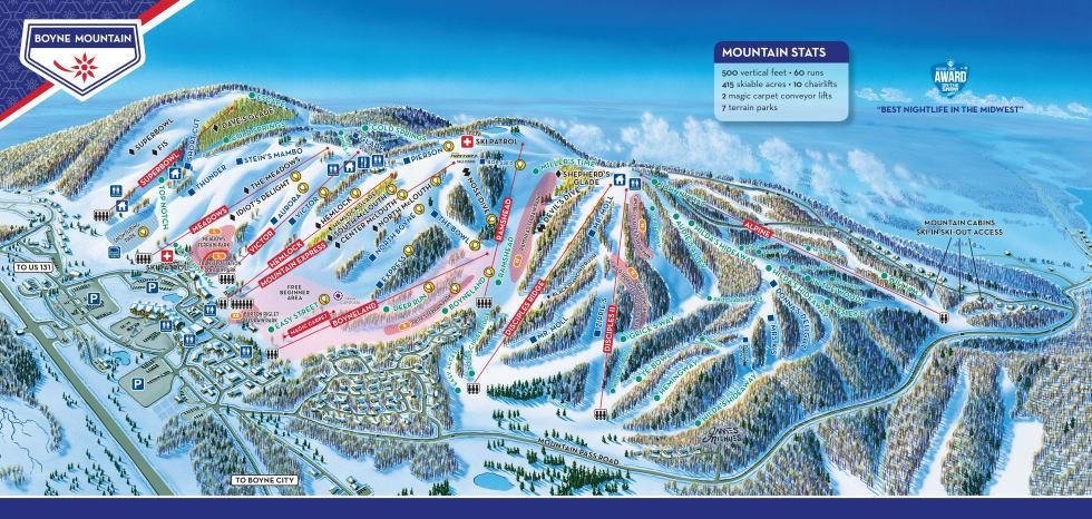 Boyne Mountain Trail Map Liftopia