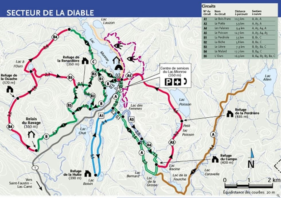 Parc National Mont-Tremblant XC Trail Map | Liftopia on