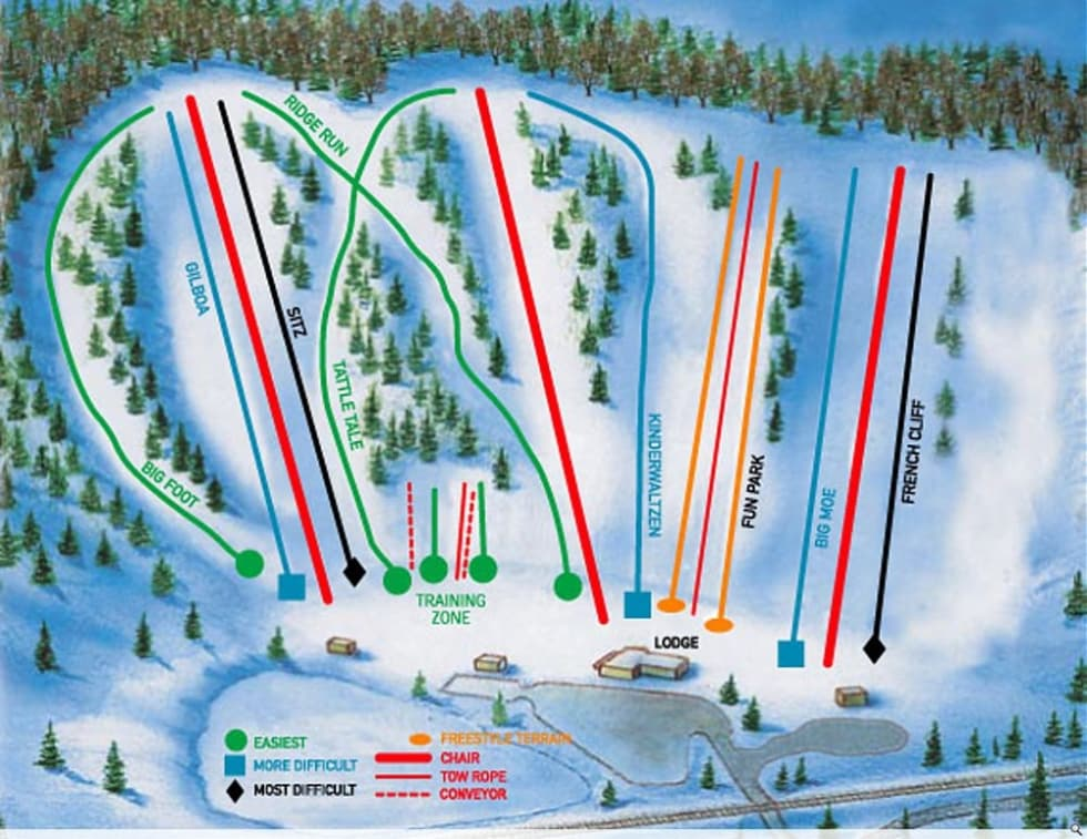skiing in minnesota map Hyland Hills Trail Map Liftopia