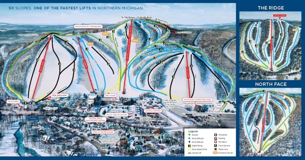 Crystal Mountain Trail Map | Liftopia