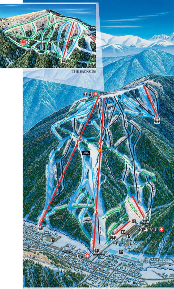 Ski In New Mexico Map.Red River Ski And Snowboard Area Trail Map Liftopia