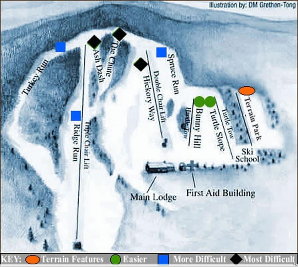 Maple Hill Auto >> Maple Ski Ridge Trail Map | Liftopia