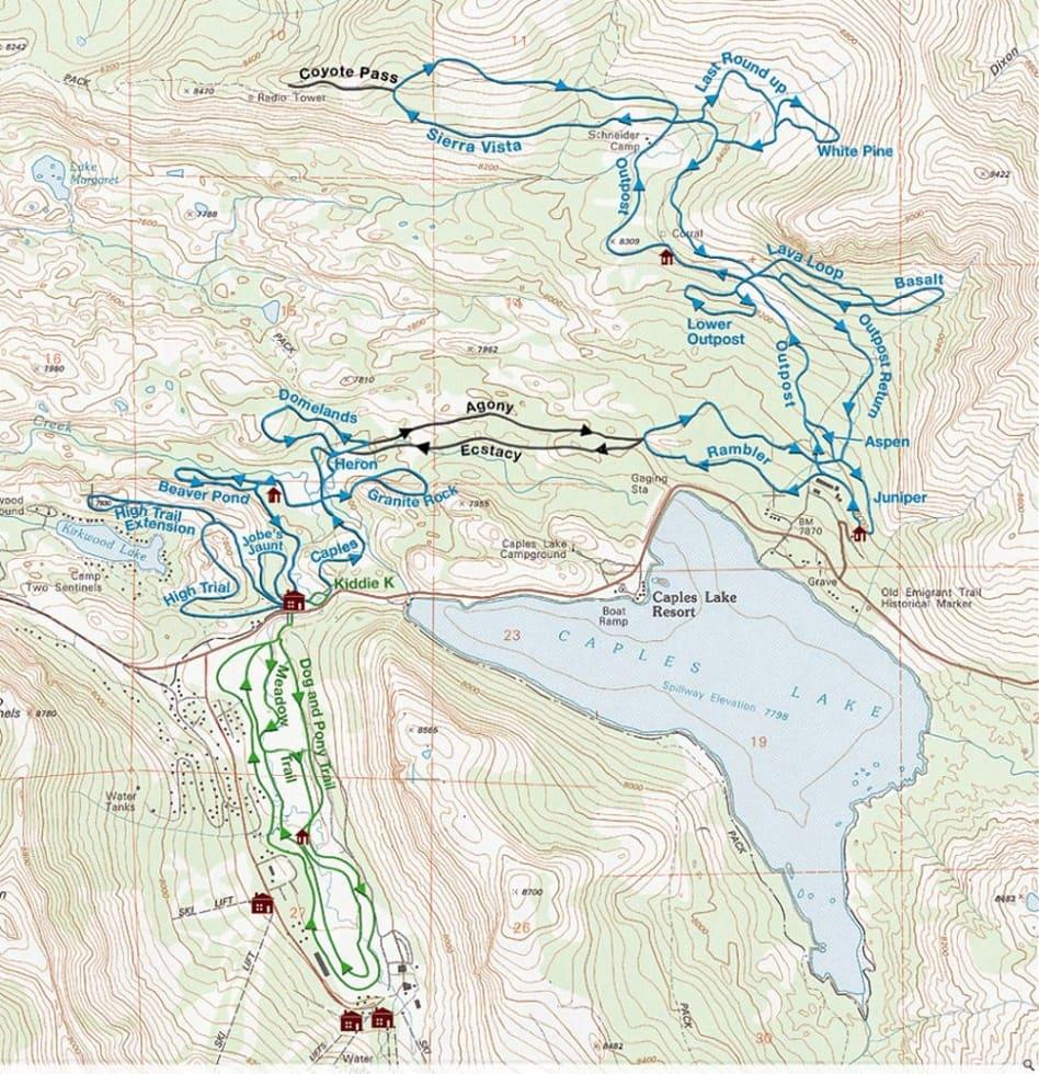 Kirkwood XC Trail Map | Liftopia on raytown map, st. louis city map, wildwood missouri map, clayton map, kirksville map, greenville map,