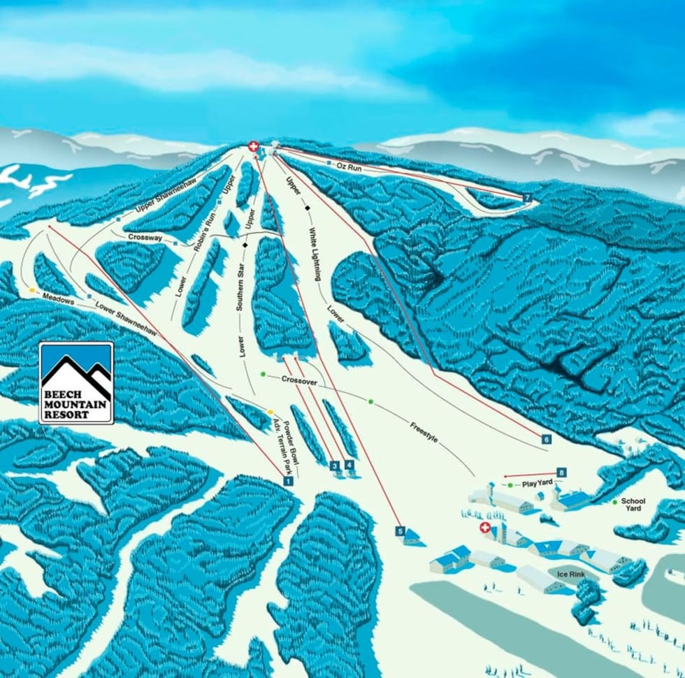 beech mountain resort trail map   liftopia