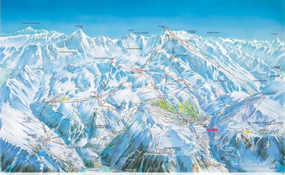 Alpe d\'Huez Trail Map   Liftopia