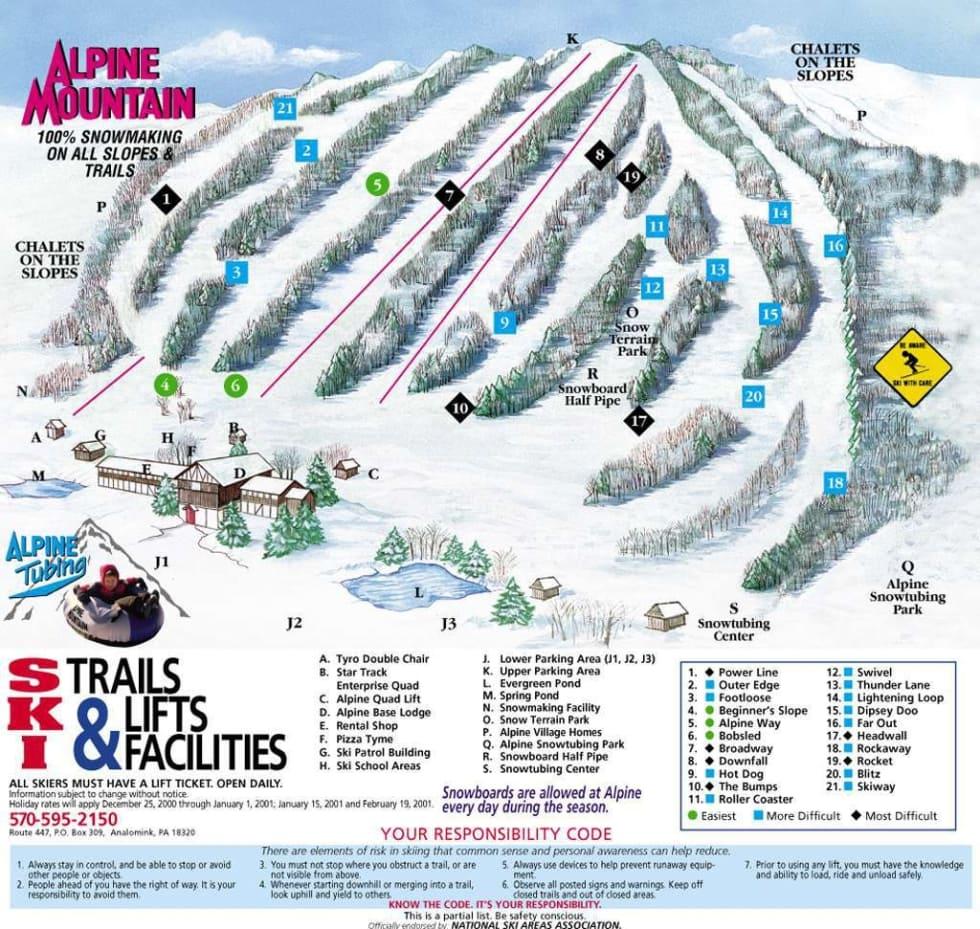 alpine mountain trail map | liftopia