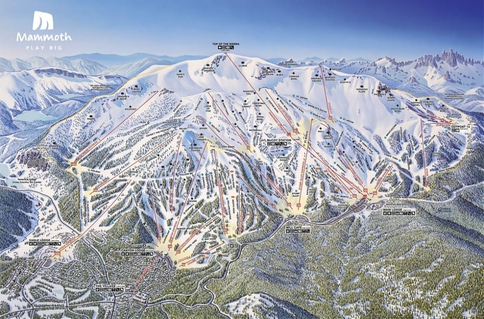 Mammoth Mountain Trail Map | Liftopia on powder mountain map, deer mountain map, ascutney mountain resort map, titus mountain map, copper mountain map, mammoth mountain map, shirley mountain map, october mountain map, blue mountain ski area map, windham mountain map, bristol mountain map,