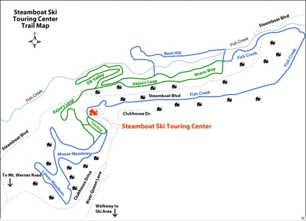 Steamboat XC Trail Map | Liftopia