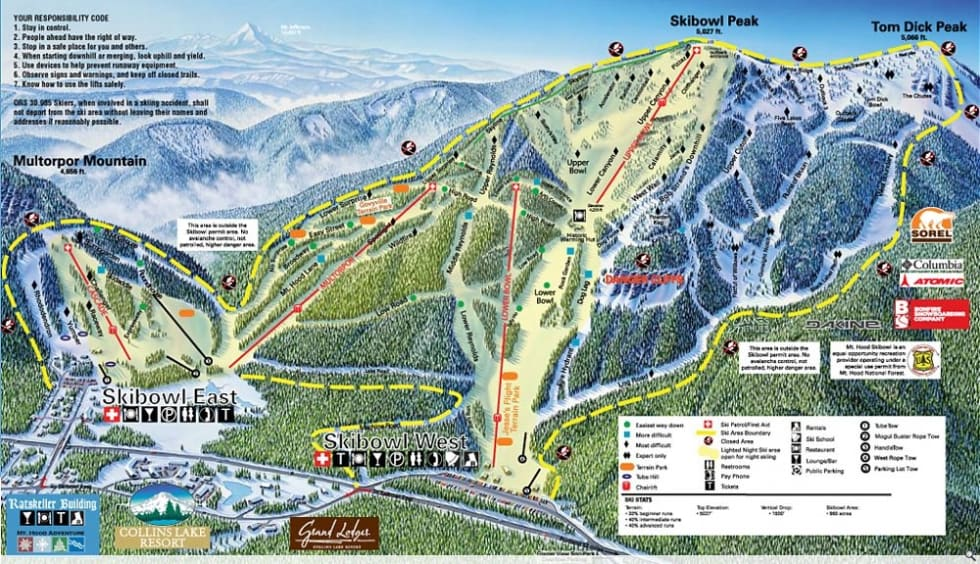 Mt Hood Skibowl Trail Map Liftopia
