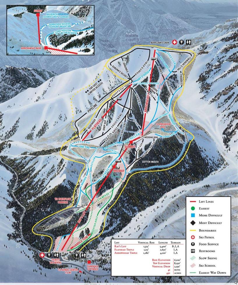 Sundance Resort Trail Map Liftopia