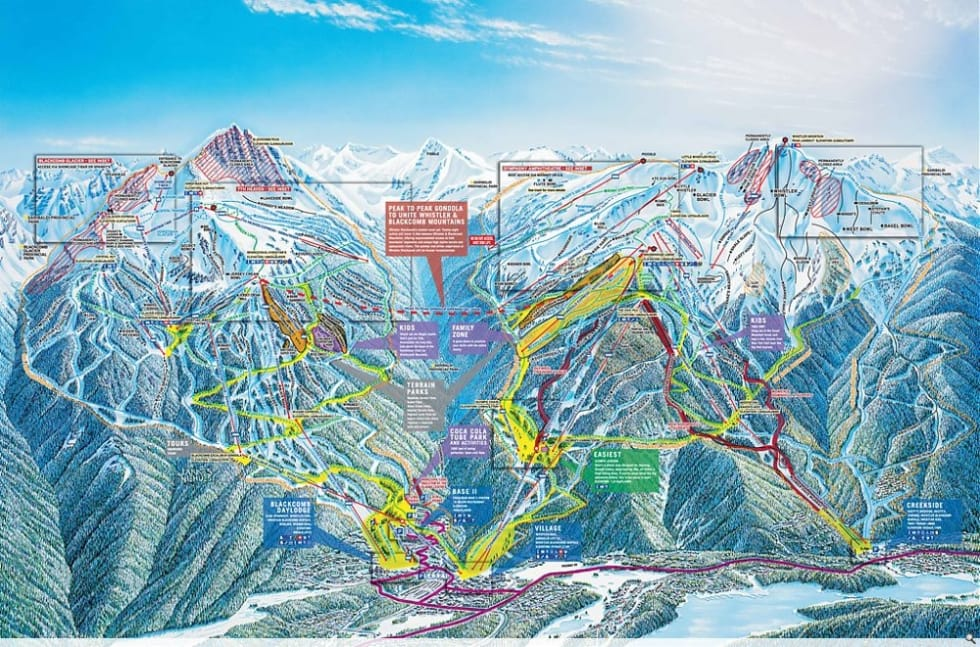 Whistler Blackcomb Map Whistler Blackcomb Trail Map | Liftopia Whistler Blackcomb Map