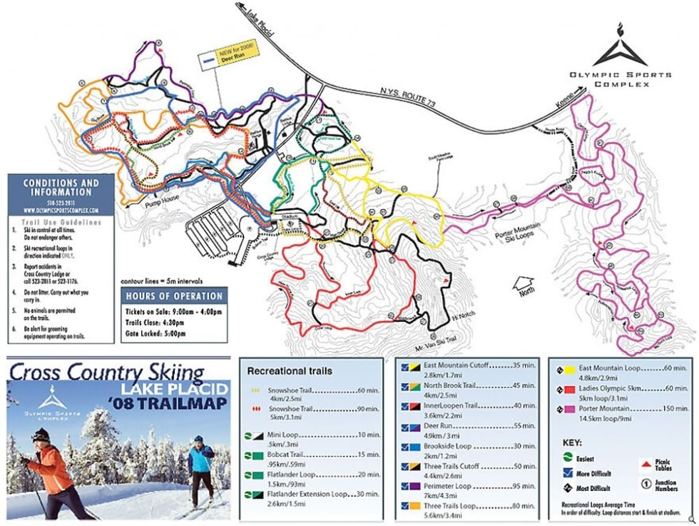Olympic Sports Complex XC Trail Map | Liftopia