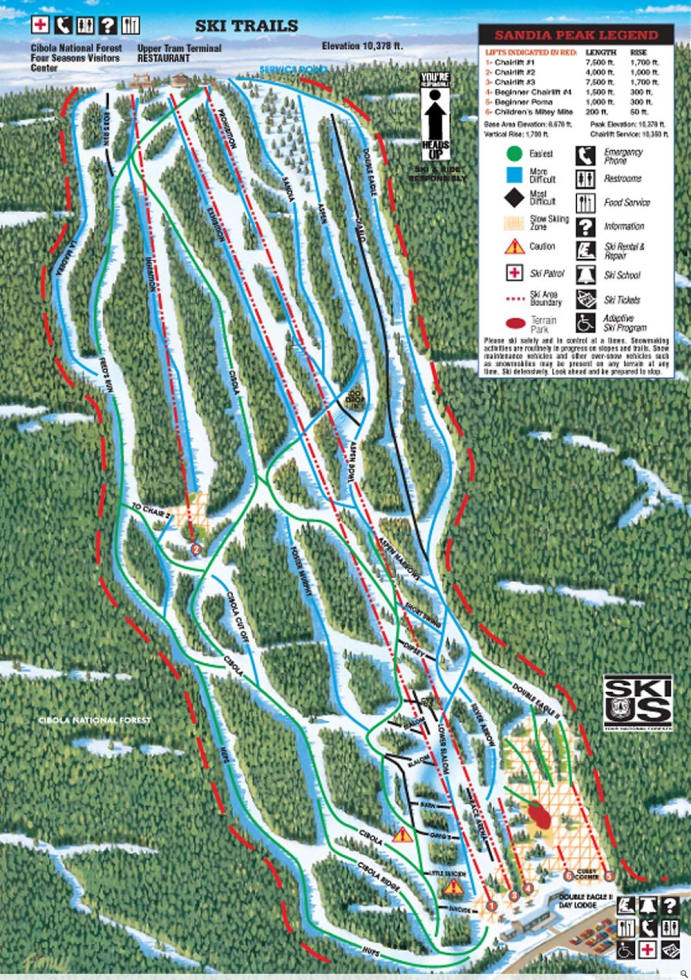 Sandia Peak Trail Map   Liftopia on