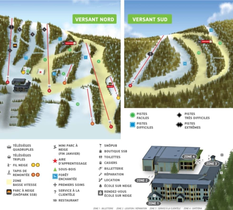 Le Rendez Vous Enchanté Le Chesnay ski saint-bruno trail map | liftopia