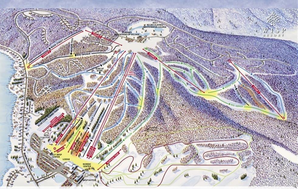Wisp Ski Trail Map Poster