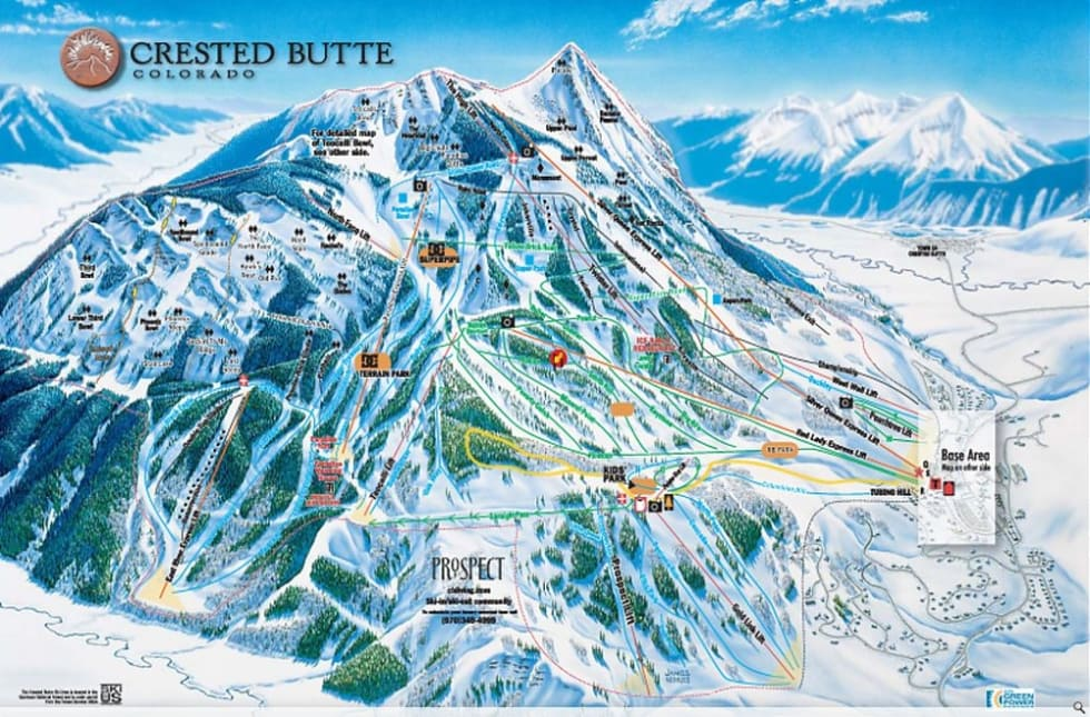 Crested Butte Map Crested Butte Trail Map | Liftopia
