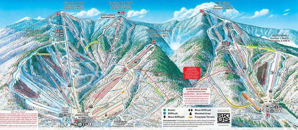 Sugarbush Trail Map Liftopia