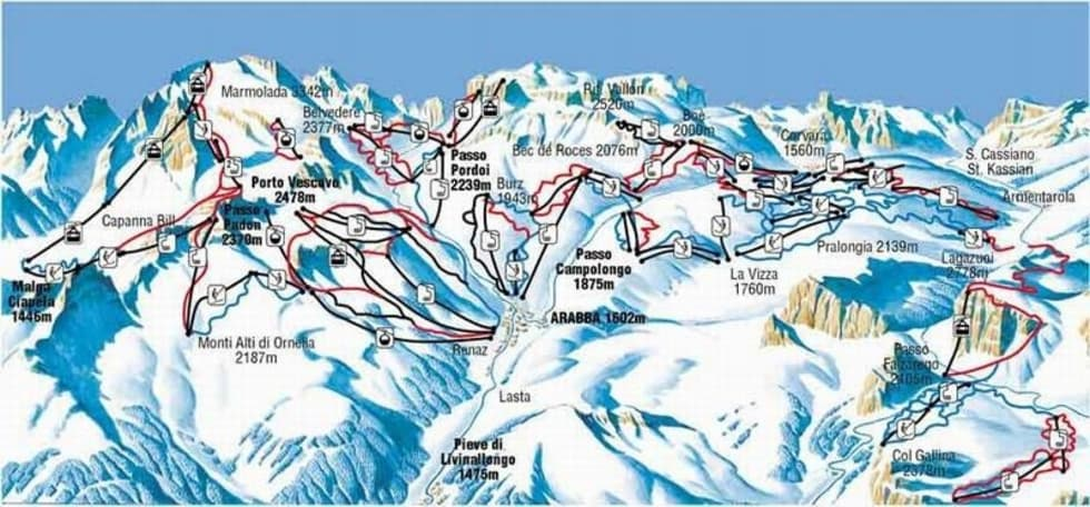 Arabba Ski Map Pdf