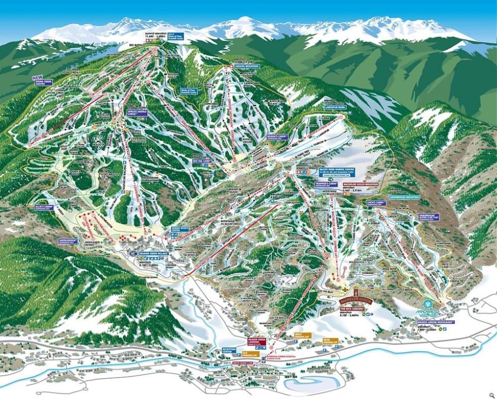 Beaver Creek Ski Map Beaver Creek Trail Map | Liftopia